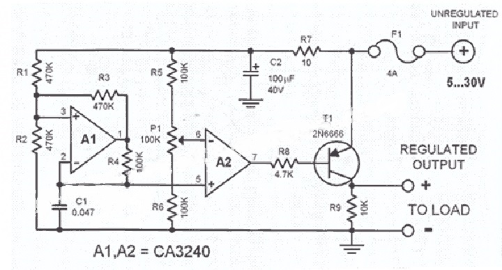 dc voltage regulator circuit