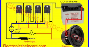 easy amplifier circuit diagram