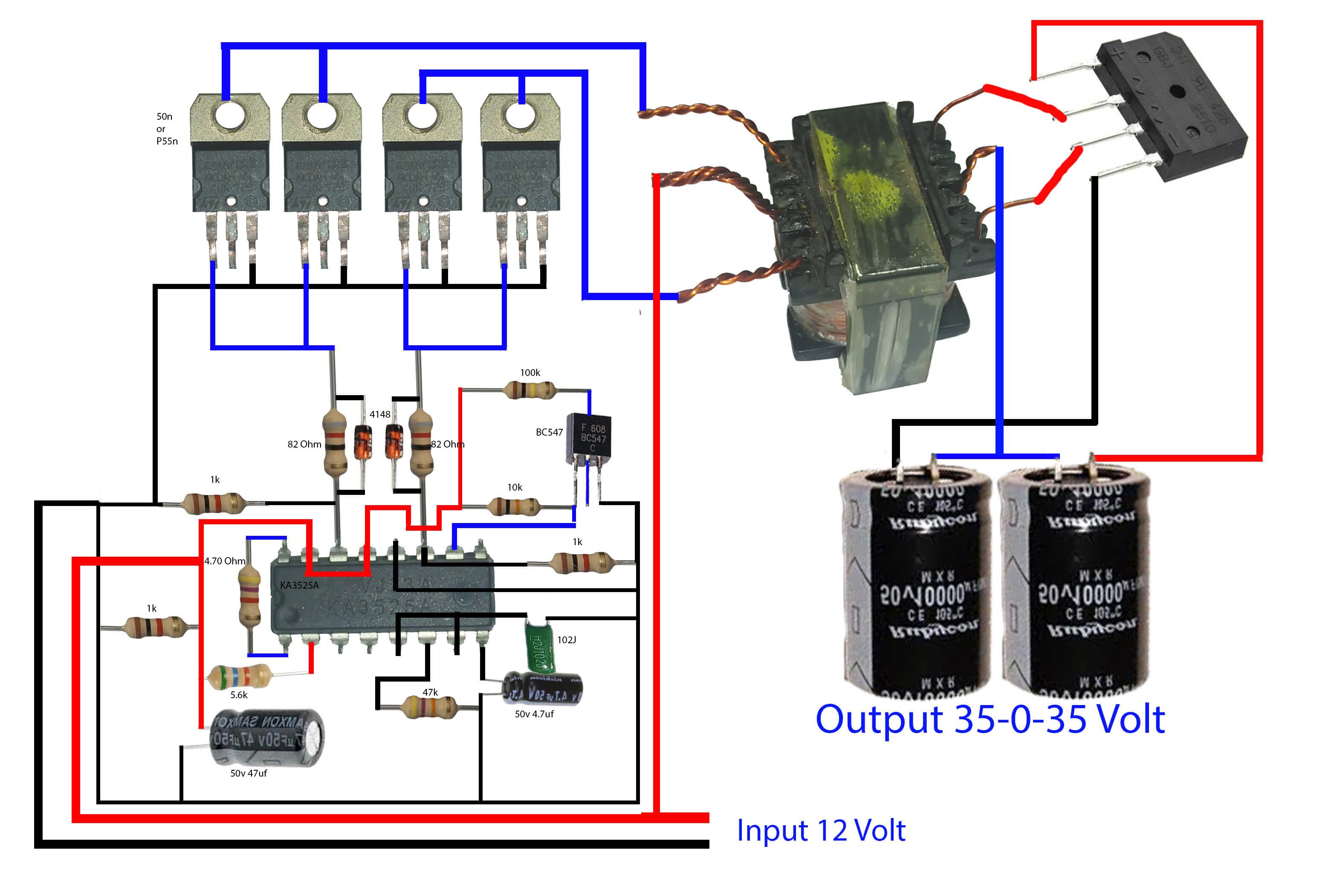 how to make inverter for amplifier