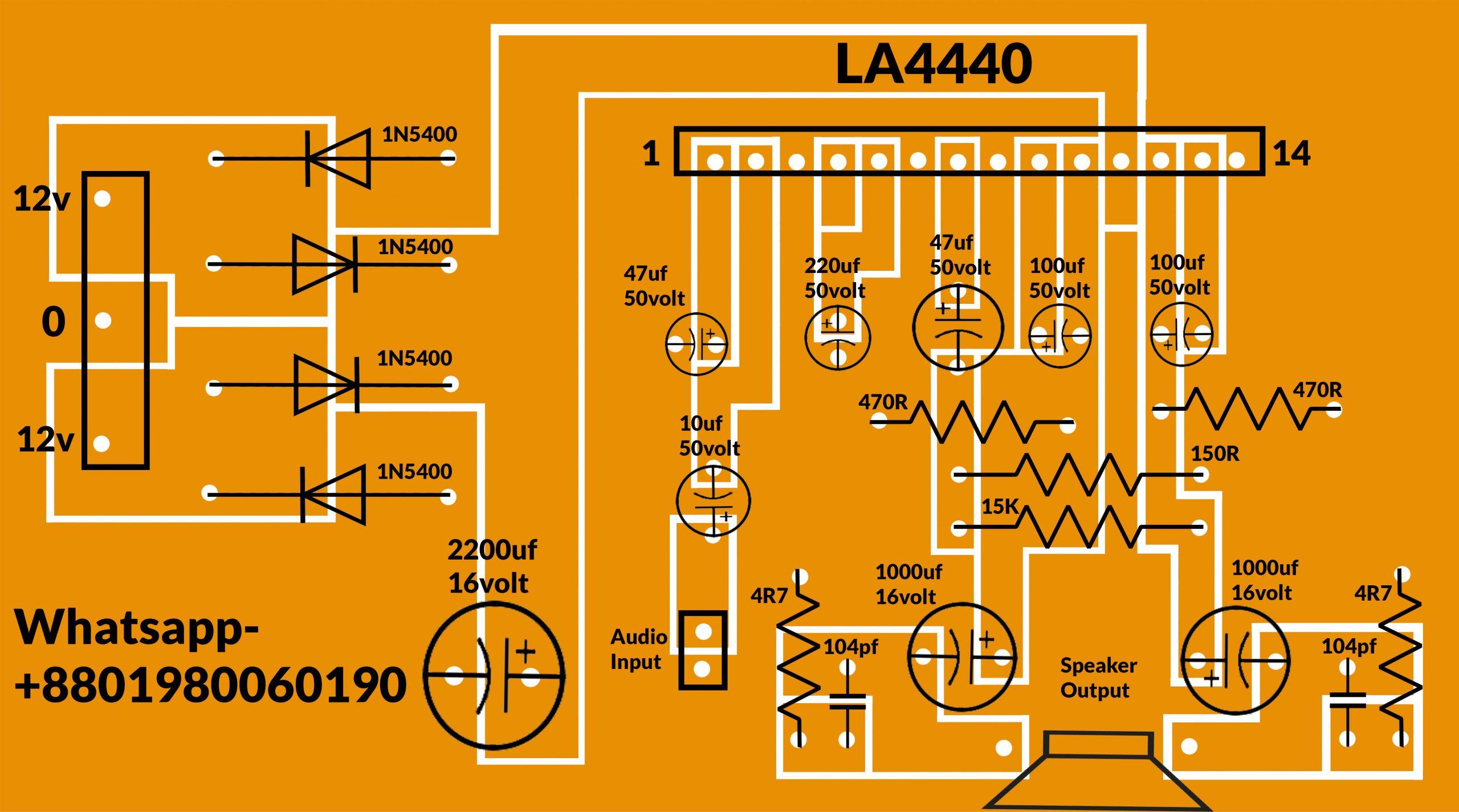 LA4440 mono circuit diagram