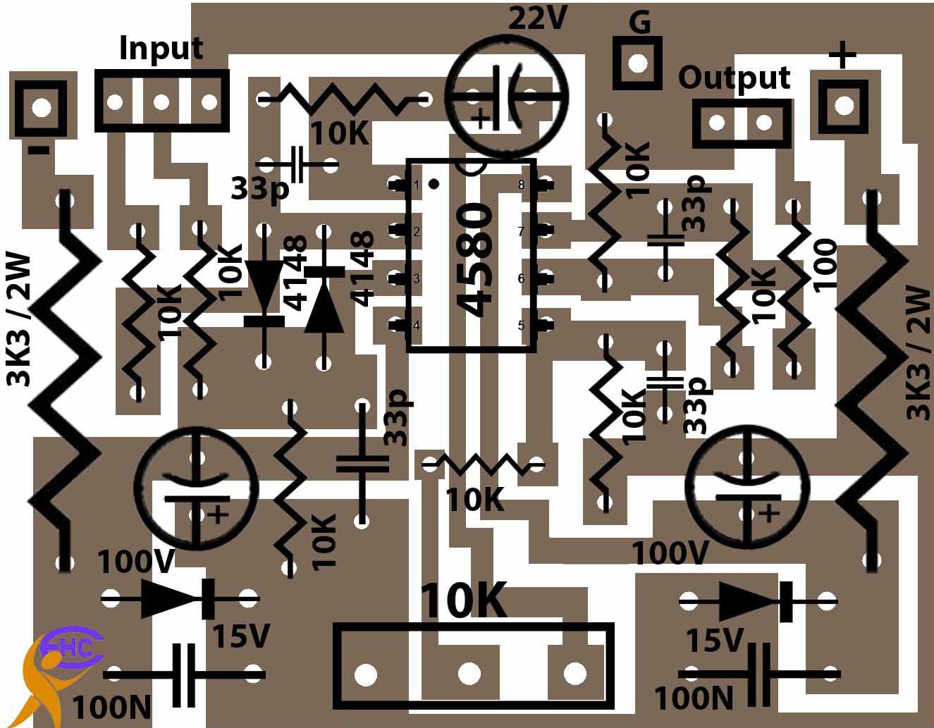 Dual low noise operational amplifier .
