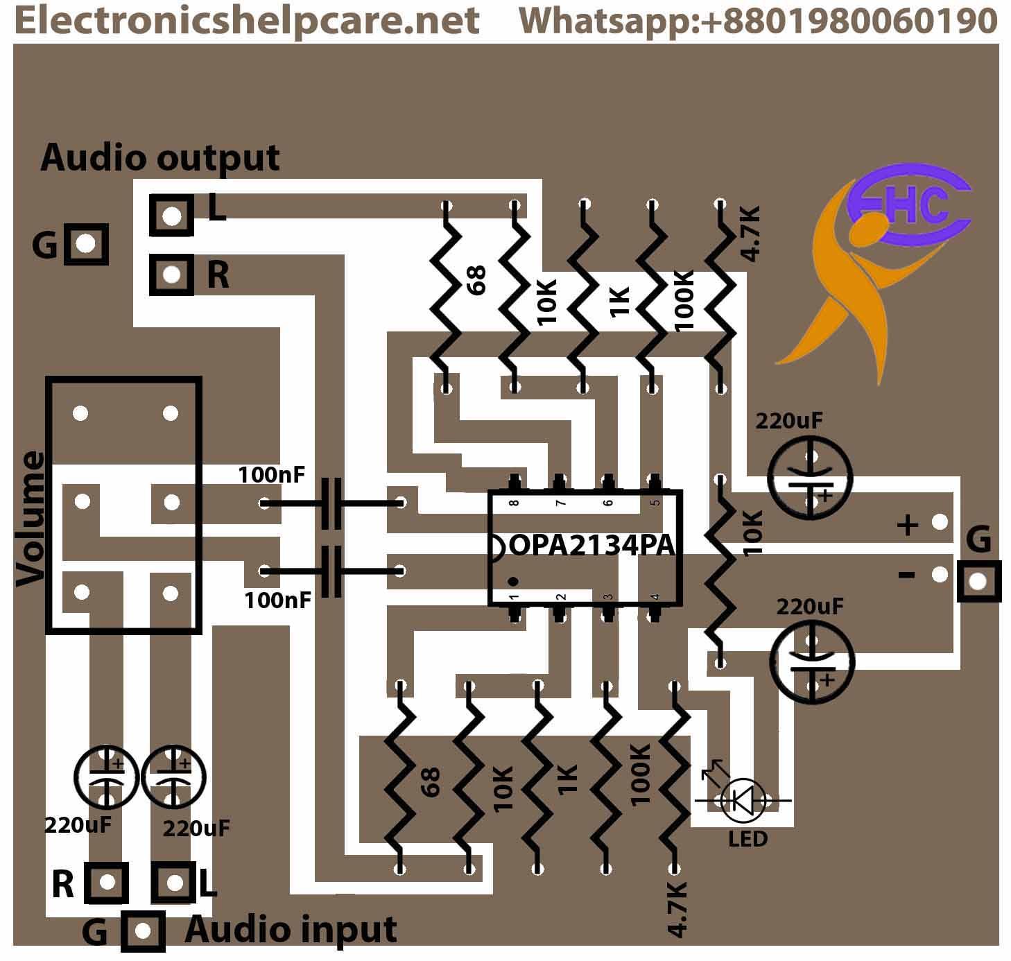 Stereo preamplifier circuit diagram