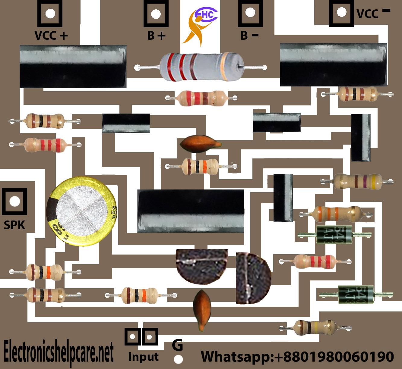 transistor amplifier circuit diagram