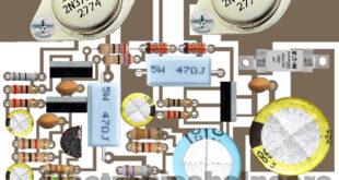 2 transistor amplifier diagram using battery
